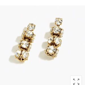 NWT J. Crew twisted crystal earrings.